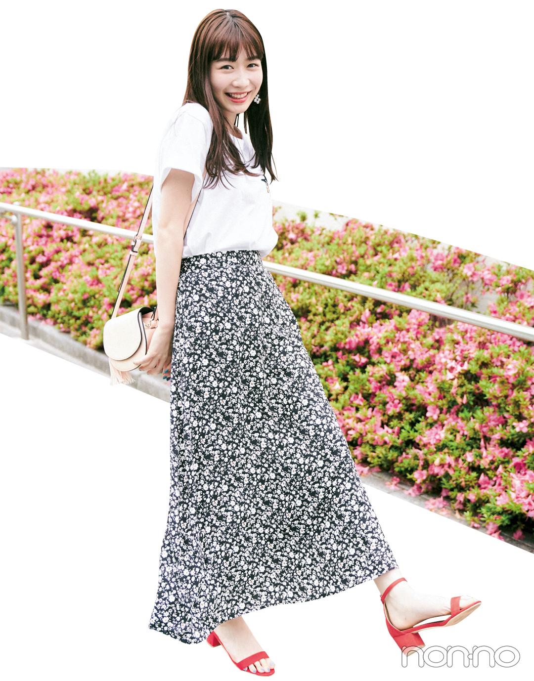 人気急上昇中! ノンノモデル岡本夏美の夏おしゃ&夏メイク_1_2