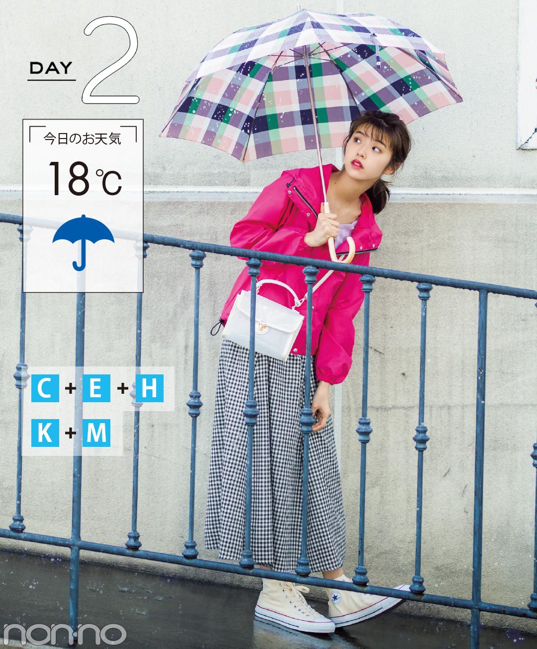【夏のスニーカーコーデ】鈴木優華は、ハッピーなピンク&チェックで憂うつな気分を一掃!