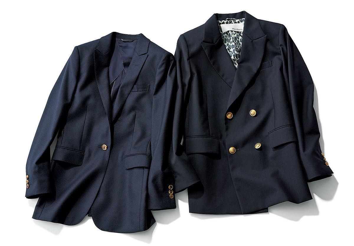 ウィム ガゼットとDIFFERENCEのテーラードジャケット