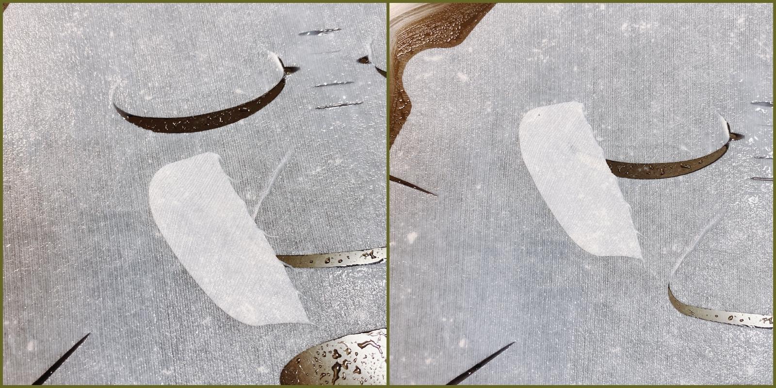 花王のキュレルの潤浸保湿モイストリペアシートマスクのどこでもケアシートは隙間ができた目尻や小鼻を覆うのにお役立ち
