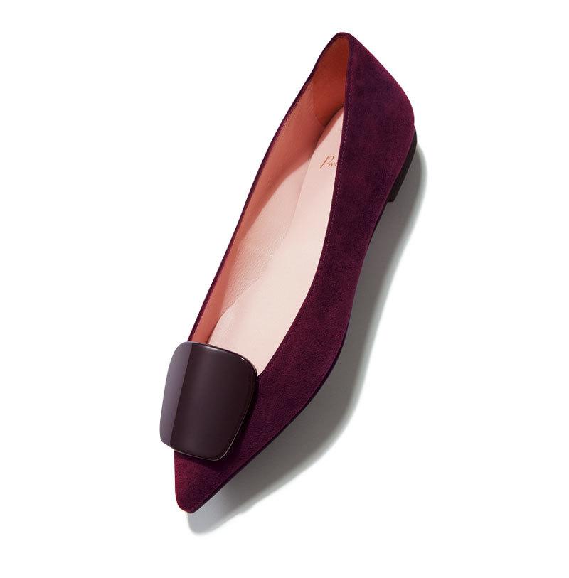 秋らしい素材、 モチーフを選択肢に。とんがりフラット靴9選_1_1-3