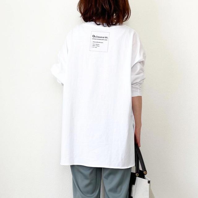 今だけ66%OFF!大人バックロゴ長袖Tシャツ【tomomiyuコーデ】_1_2