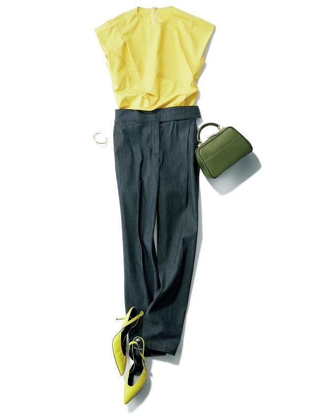 シクラスのデニム「ストレッチデニム パンツ」を使用したコーデ