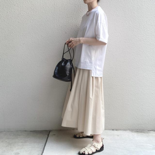 シンプルな白Tシャツの着回しコーデ_1_6