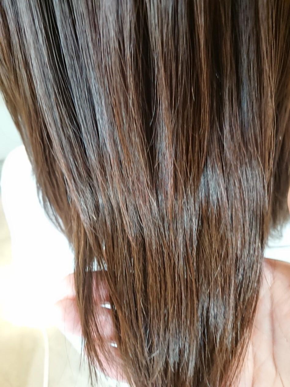 ケアー後のアフター♪ ストレートパーマ並のサラサラに!!髪はしっかり元気です