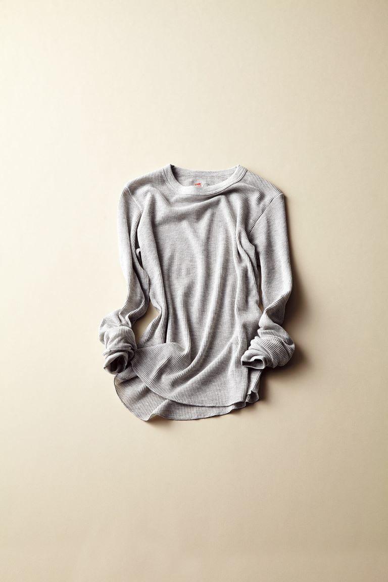 スタイリストも愛用する、ヘインズのサーマルTシャツニット_1_1