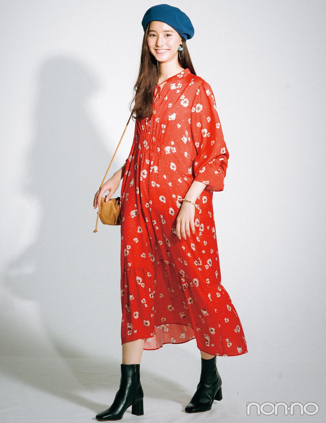 新木優子はヴィンテージ風の花柄ワンピで夏スタイルに差をつける!【毎日コーデ】
