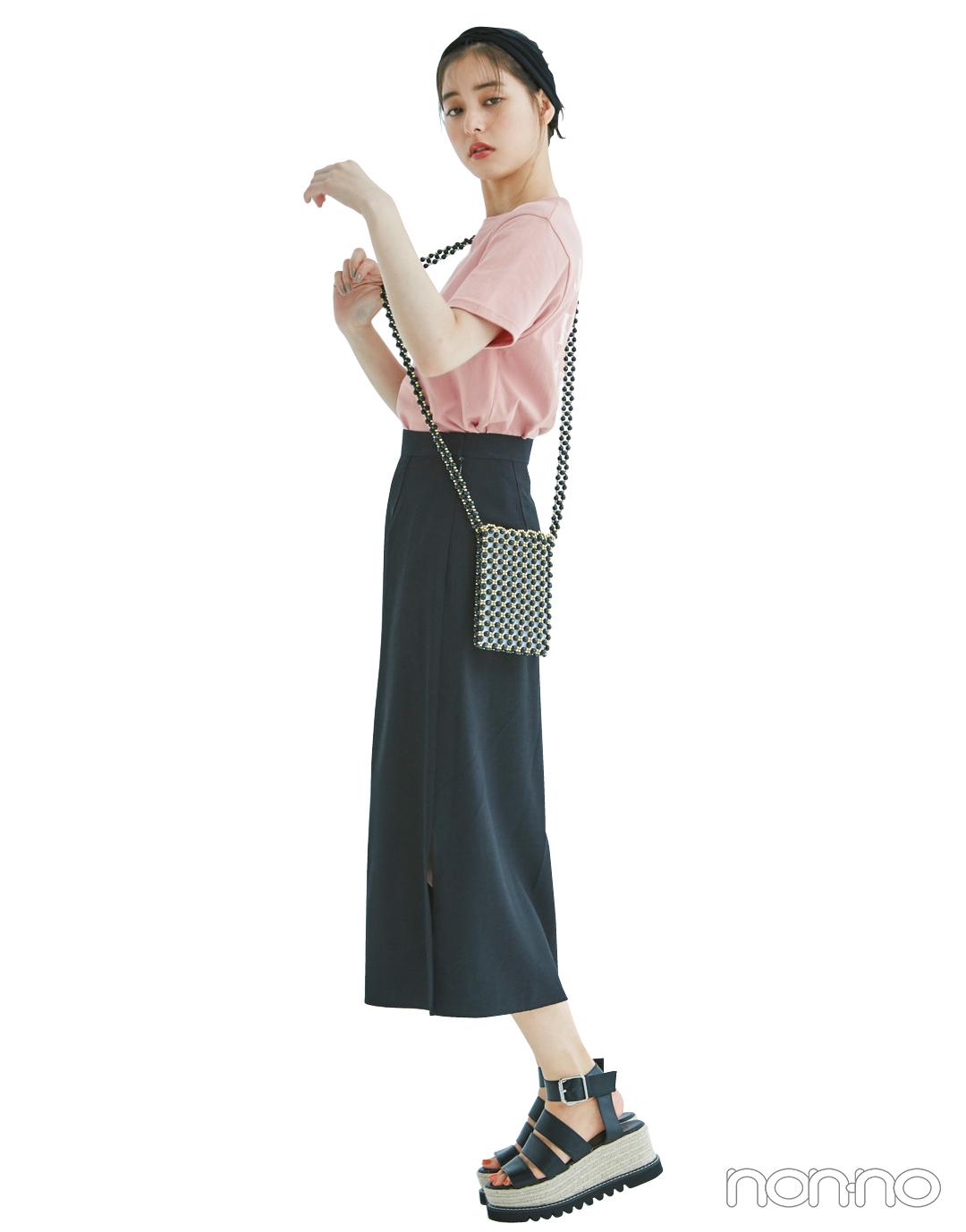 くすみピンクのTシャツ、今買ってもこれだけ着倒せる! 最新コーデ4選★_1_3-2