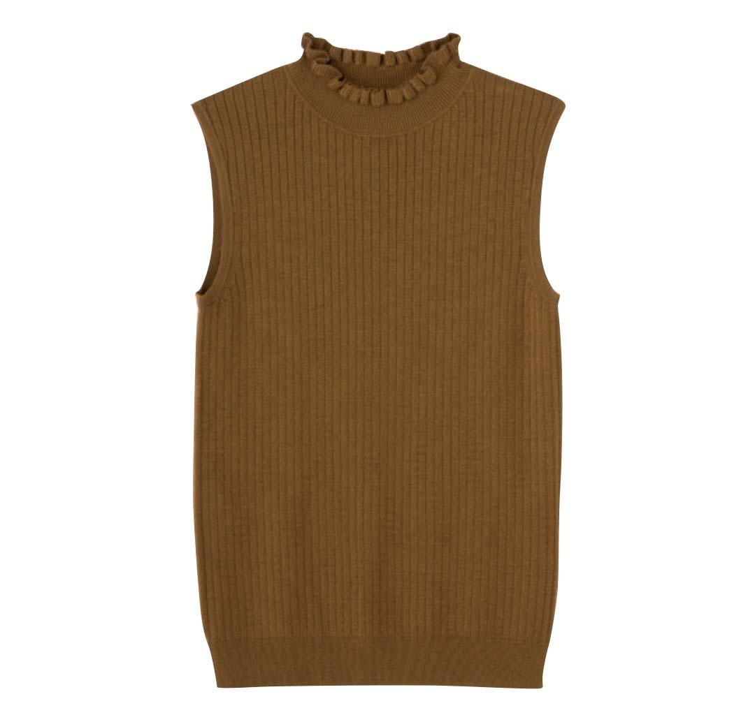 今すぐ着られる秋トレンド★シンプル服をブラウンに変えるだけでコーデに差がつく!_1_3-2