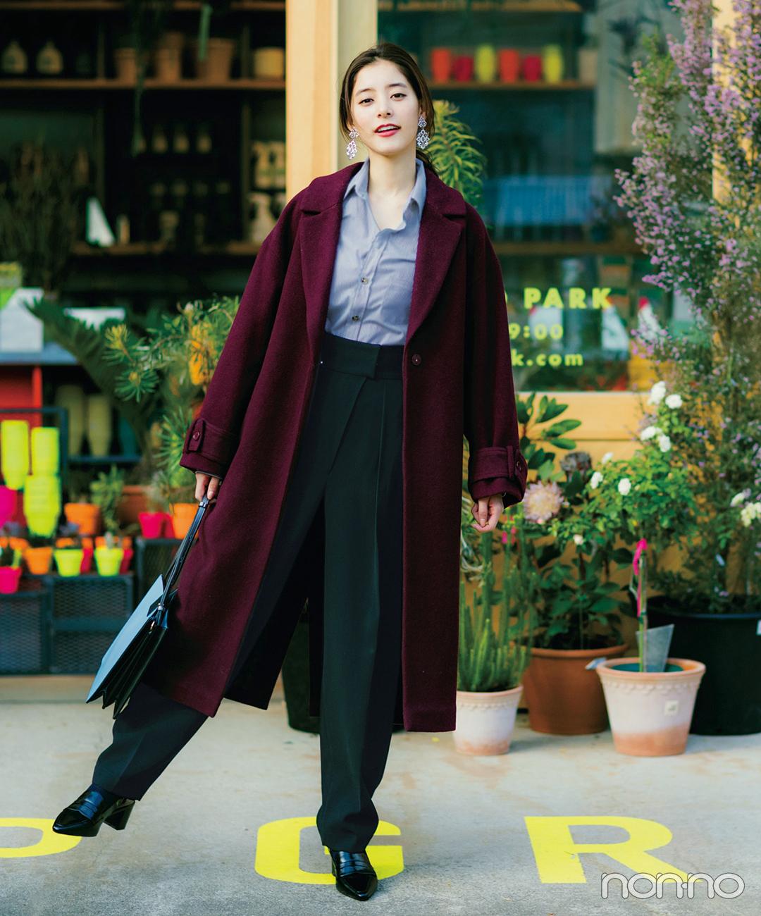 新木優子はストライプシャツでコートスタイルに抜け感【毎日コーデ】_1_1
