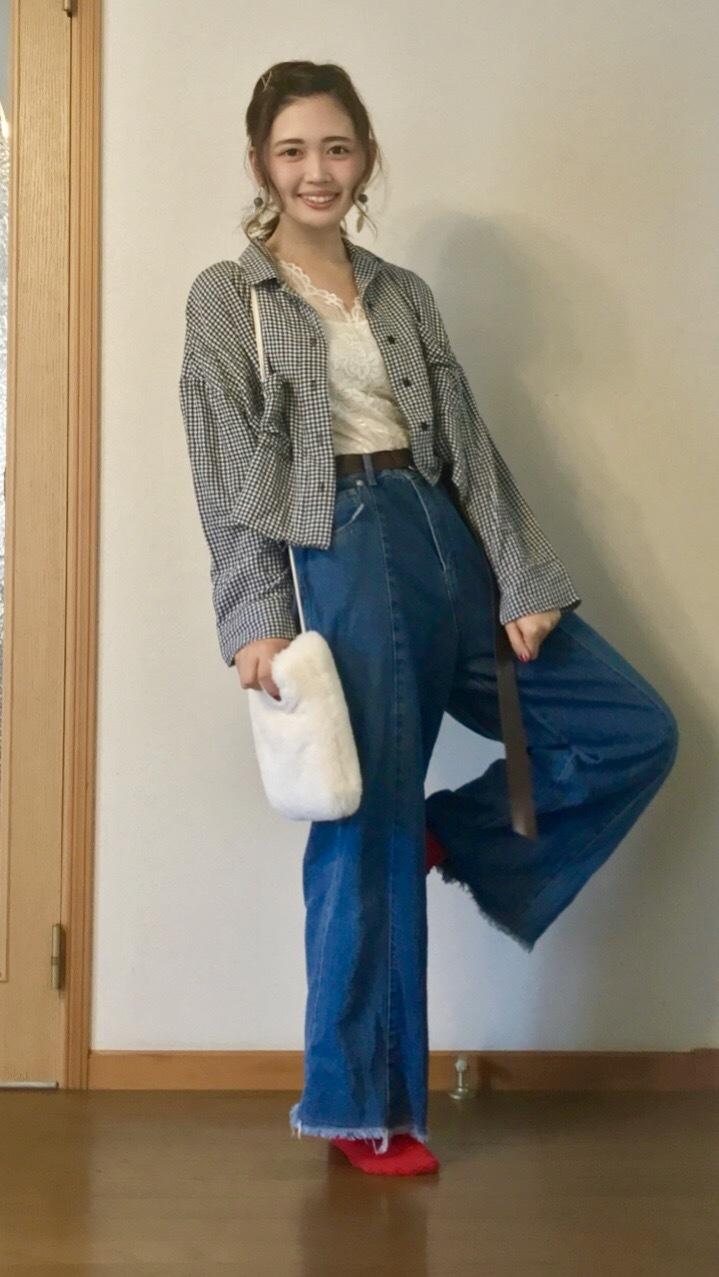 【この季節何着る?】ギンガムチェックの開襟シャツを着回し୧⃛(๑⃙⃘•ω•๑⃙⃘)୨⃛♪♪_1_3