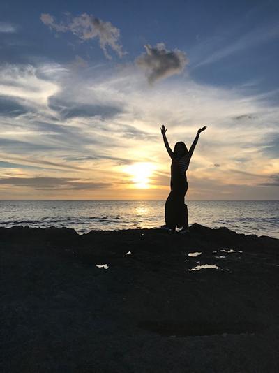 結婚後、パートナーとともに訪れたハワイにて