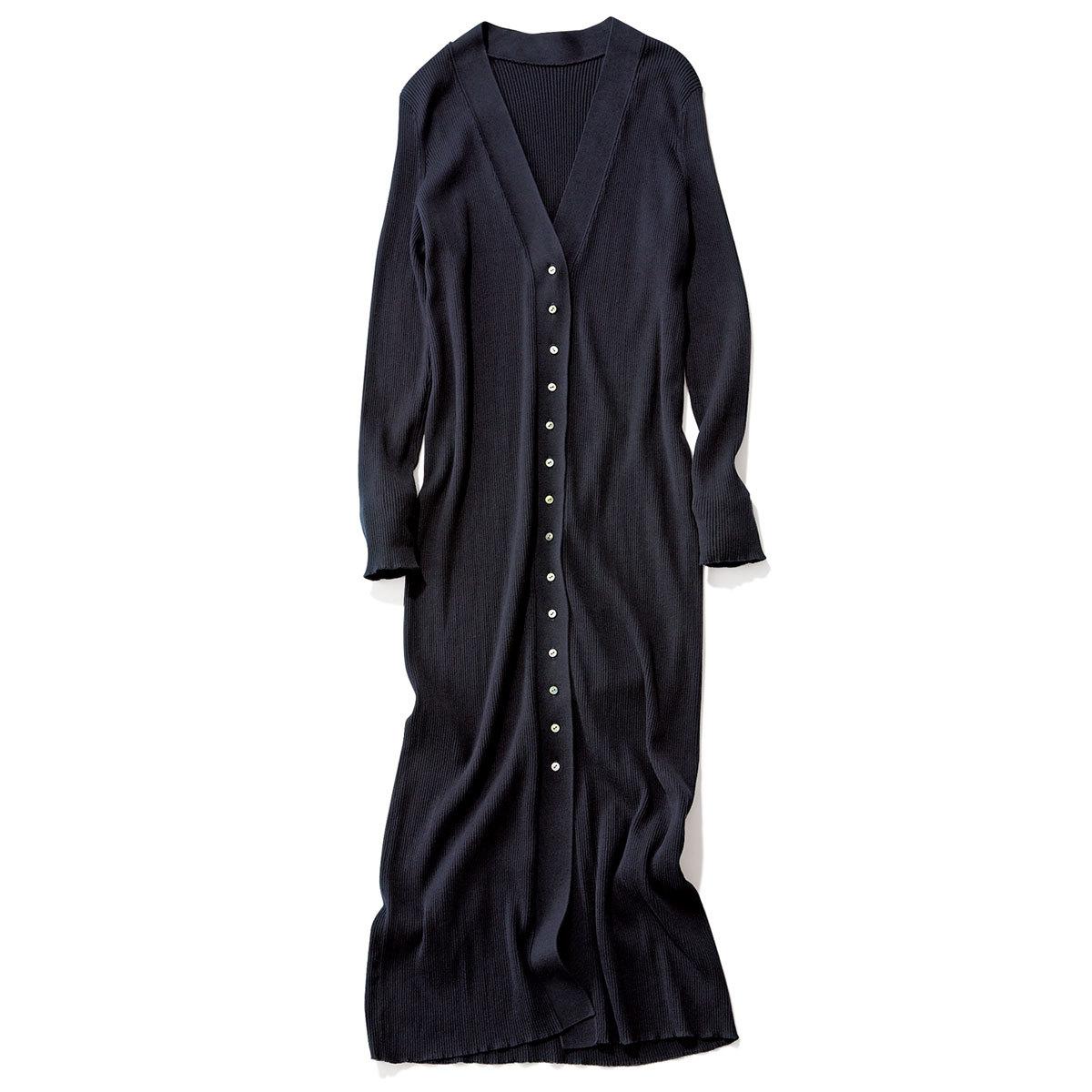 40代ファッション2019年夏のお買い物_GALERIE VIEのリブロングカーディガン