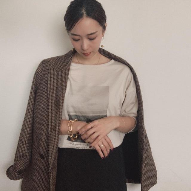 先日の肌寒い日のランチコーデ  tops:Spick&Span skirt:Beauty&youth