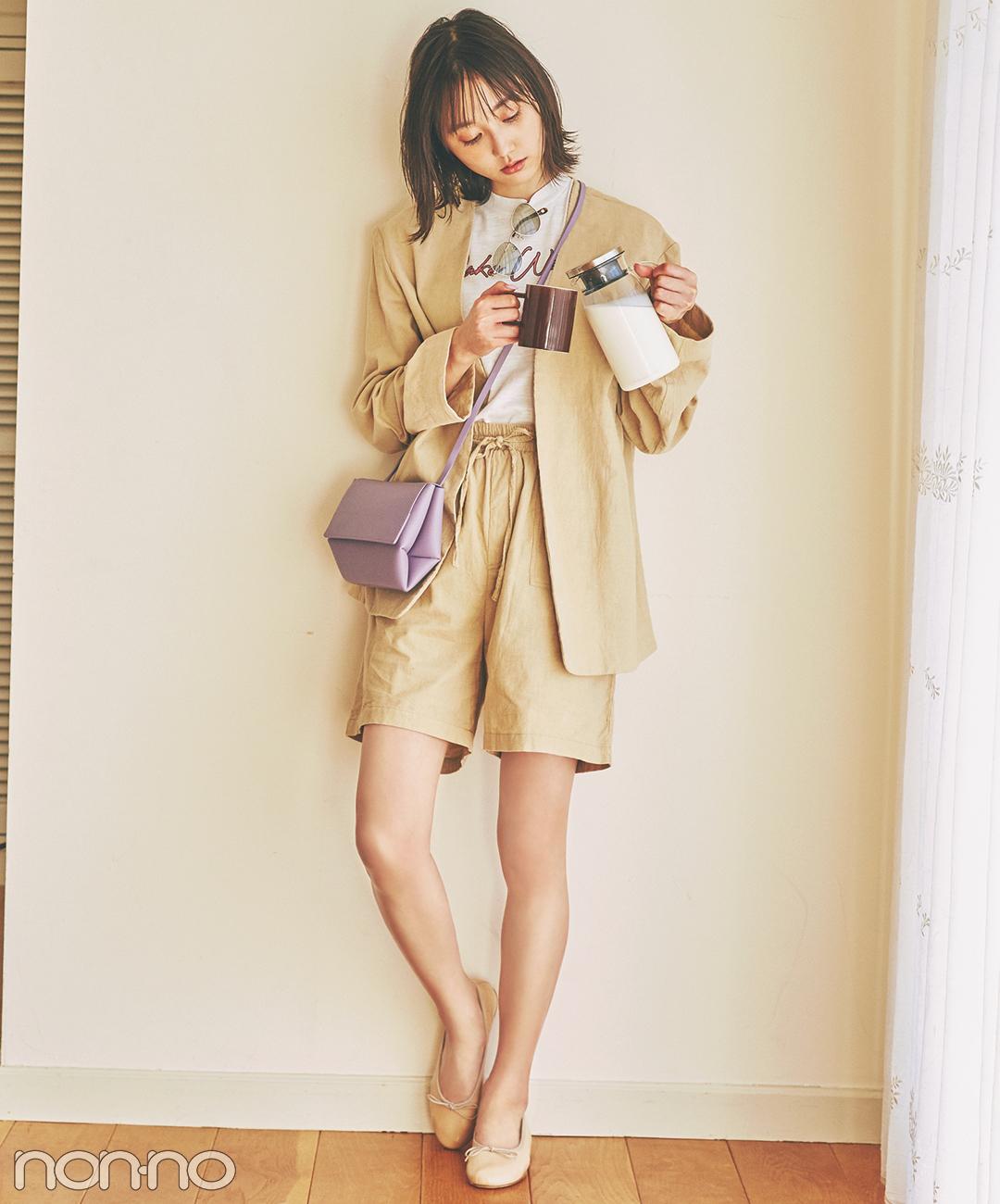 【春→夏ショートパンツコーデ】コーデュロイの素材感でこなれ見え♡
