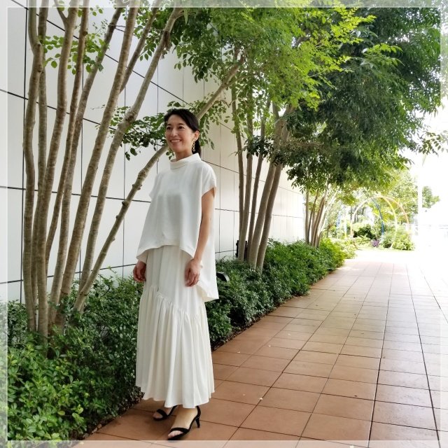 she tokyoのセットアップを着て、友人と二子玉川でランチ♪_1_1