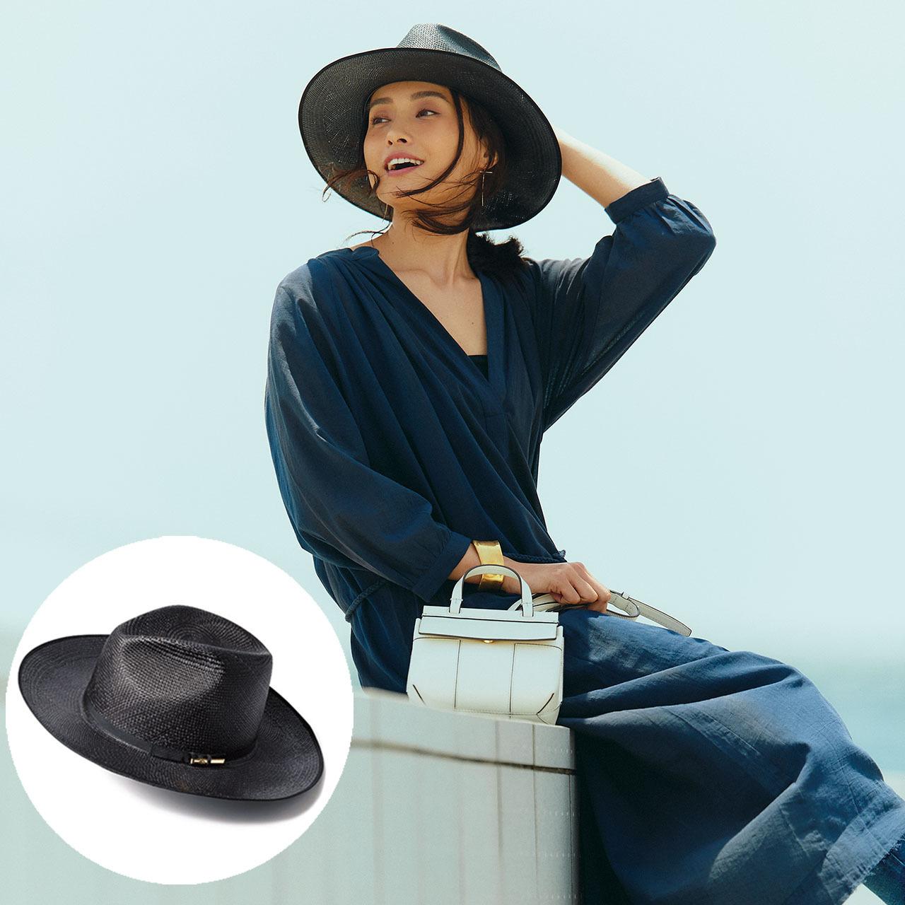 帽子×ワンピース×デニムコーデ