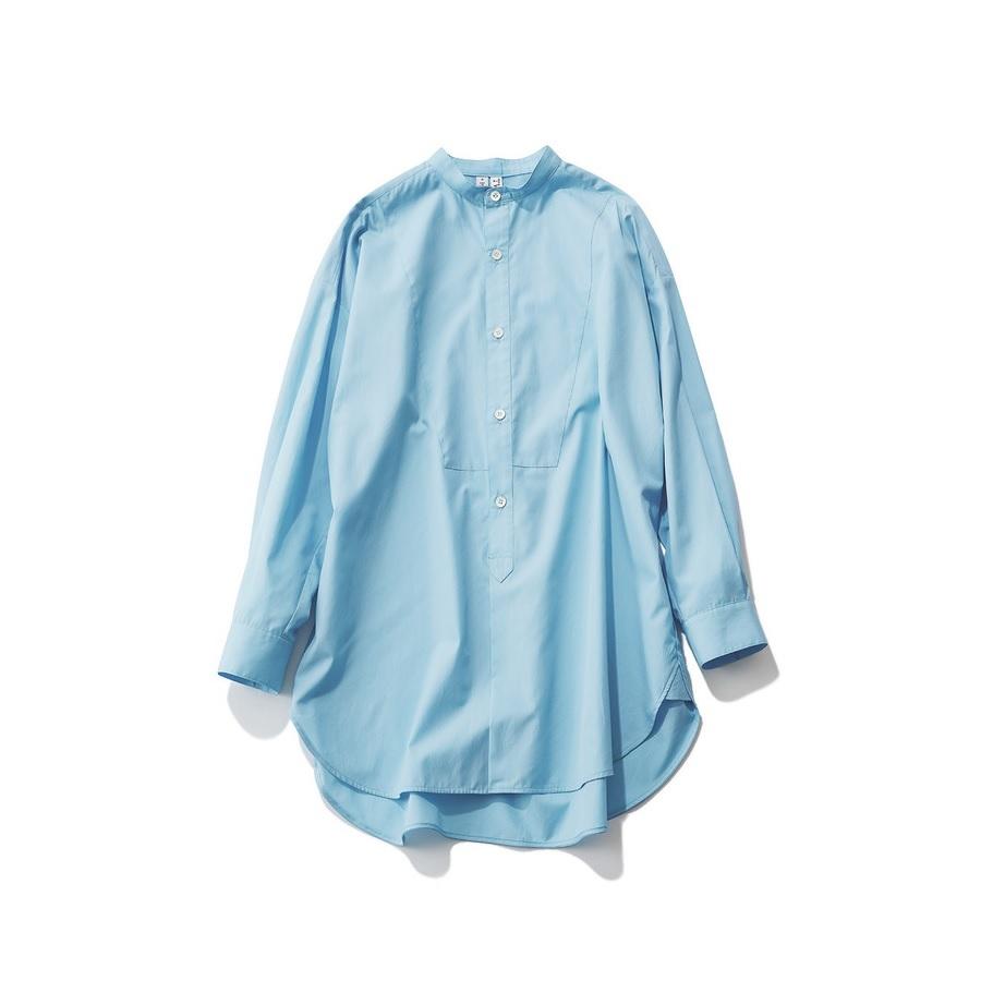 ファッション トラディショナル ウェザーウェアのサックスブルーシャツ
