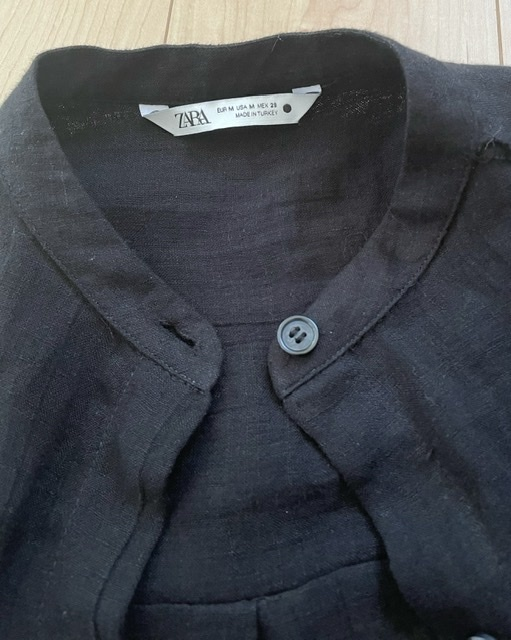 1枚2役。リネンで涼しい『ZARA』のロングシャツ。_1_1