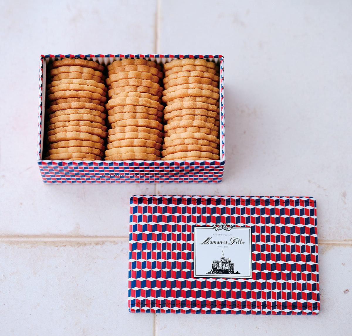 「マモン・エ・フィーユ」の フレンチビスキュイ缶