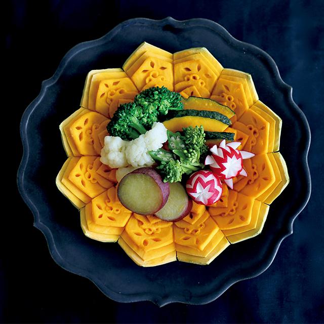 満腹感のあるレンチン蒸し野菜