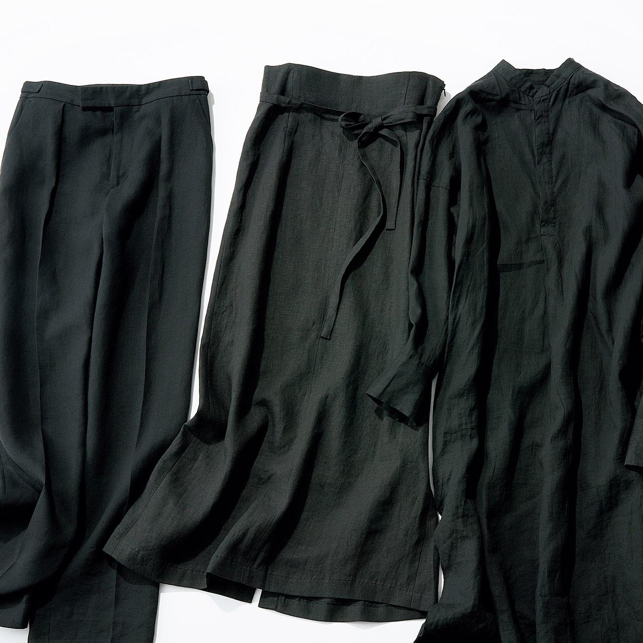 """""""黒のクールみ""""手に入る、カッコよく着られる大人のリネン 五選_1_1-4"""