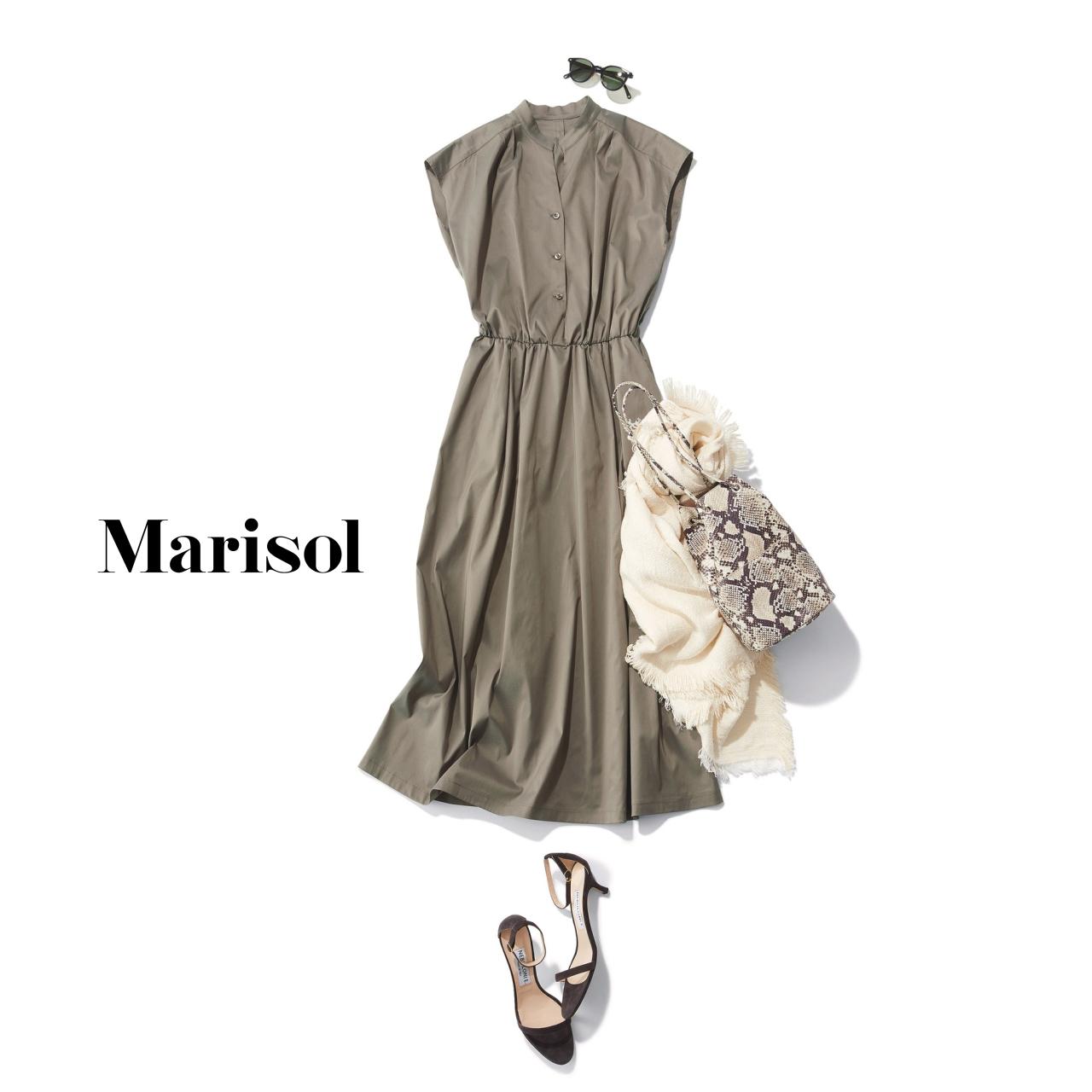 40代ファッション シャツワンピースコーデ