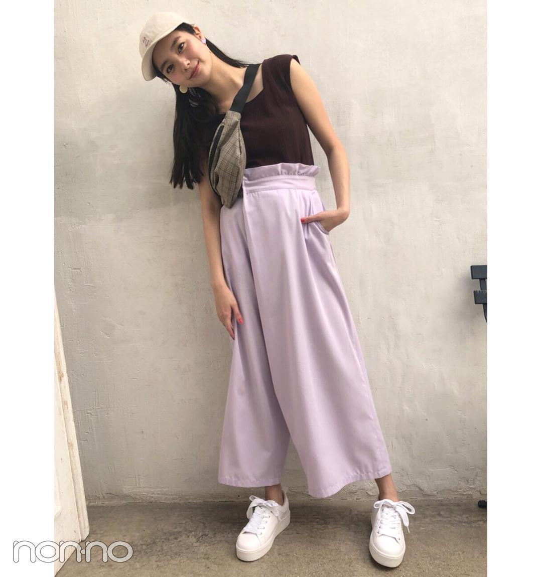 新川優愛はきれい色パンツで女っぽスポーツMIXにトライ。【毎日コーデ】_1_1