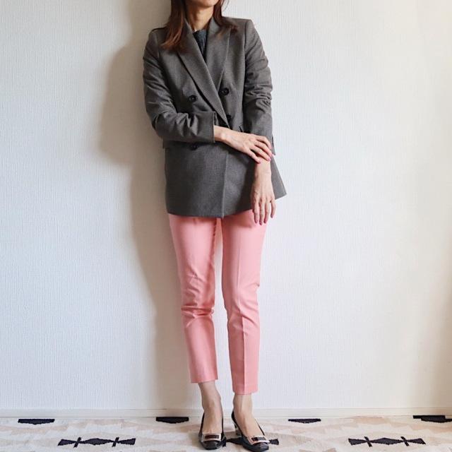 【ZARA】ピンクの〈きれい色パンツ〉で2020春コーデ _1_1