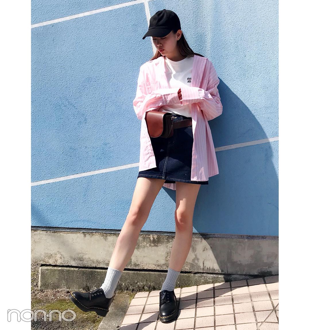 泉はるの韓国っぽビッグシャツコーデ【毎日コーデ】_1_1