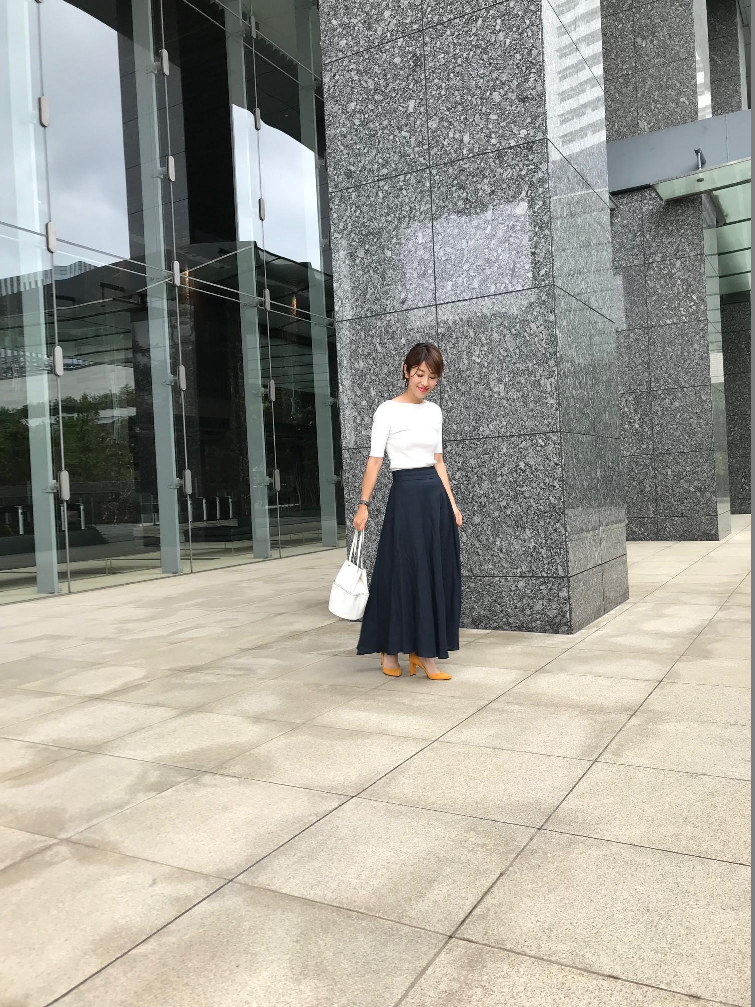 軽やかリネン素材のマキシ丈スカートで夏のお洒落を快適に!_1_1
