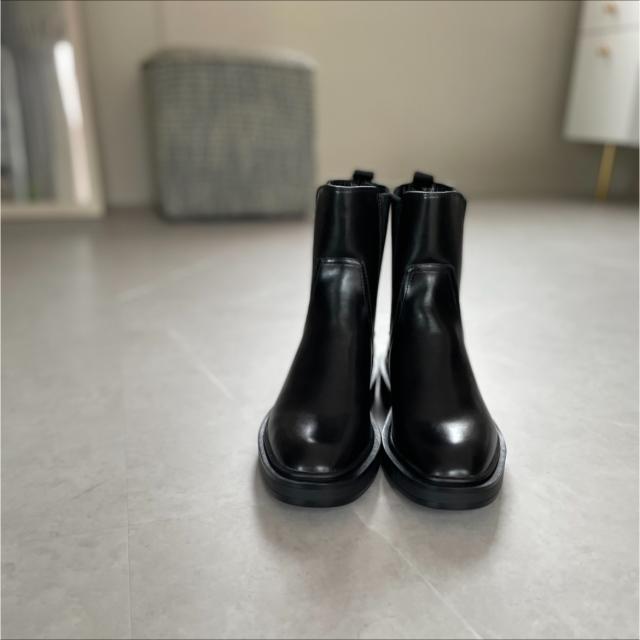 今季購入したブーツで秋の休日ワンピースコーデ_1_1