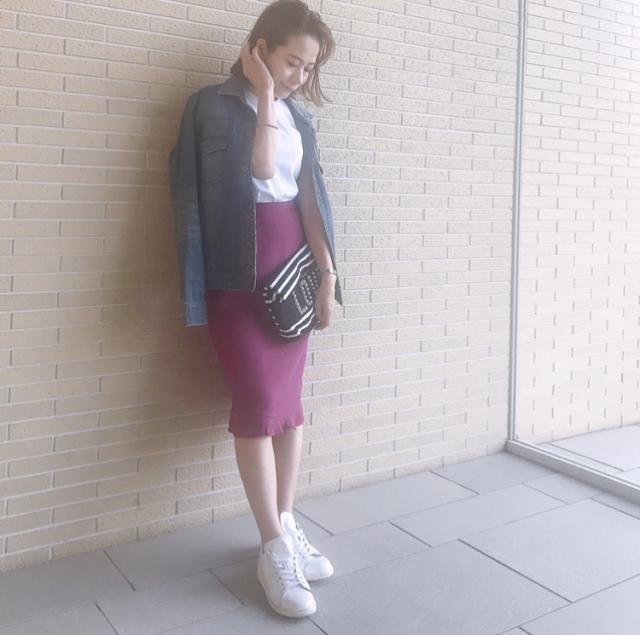 甘さとアラフォーのいい関係、今度はピンクのスカートで。_1_3-2
