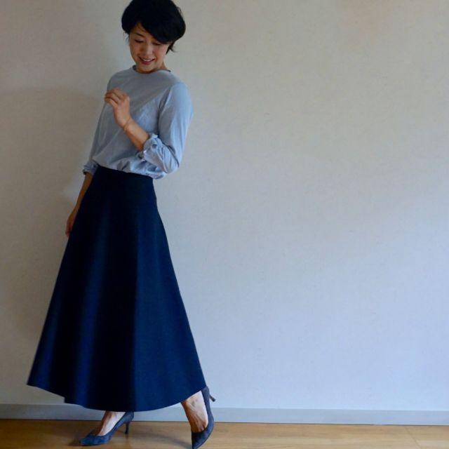 BLUEBIRD BOULEVARDのスカートで秋スタイル始め_1_1-5