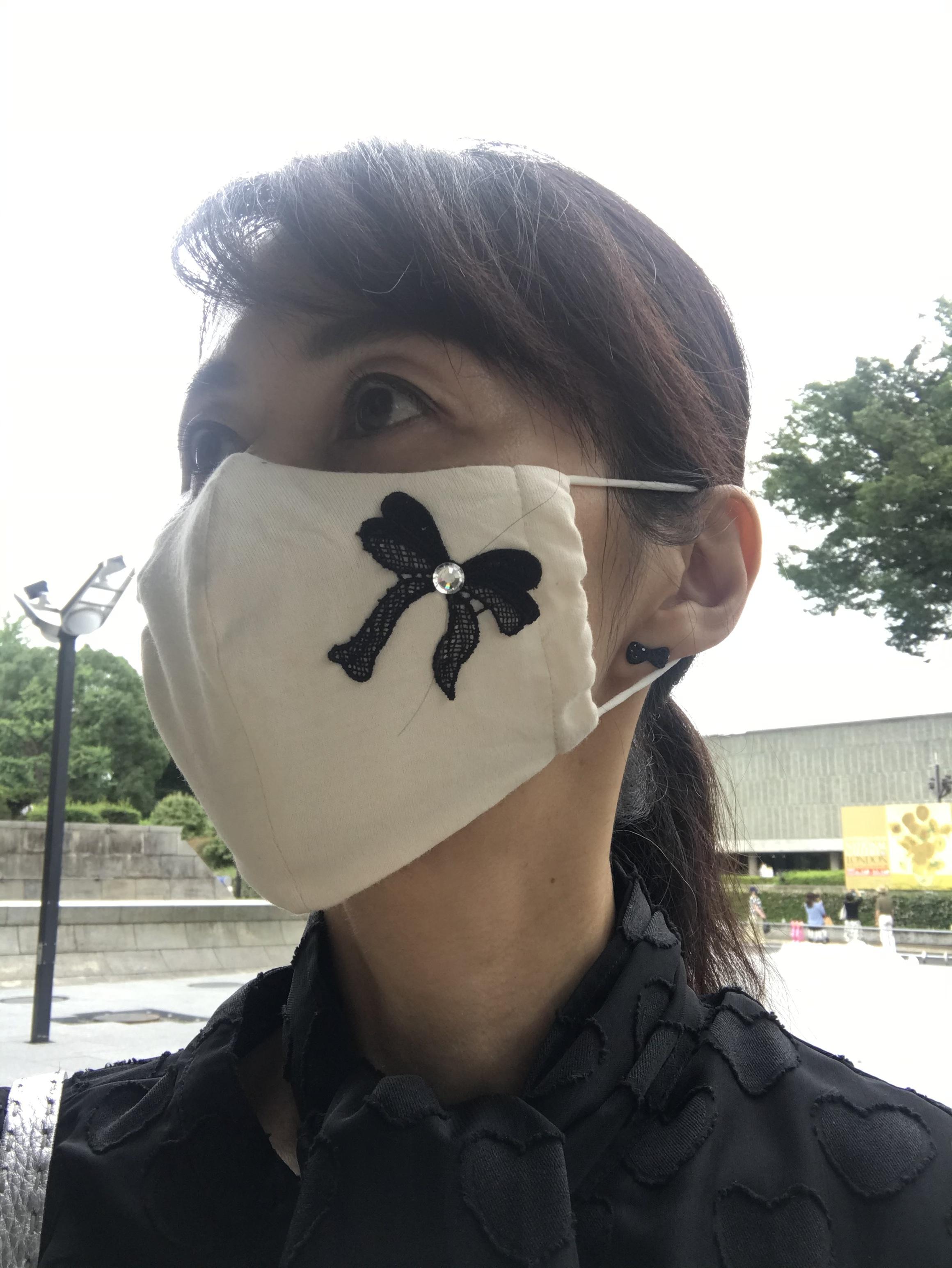 お気に入りのマスクをつけて上野へ♡_1_2