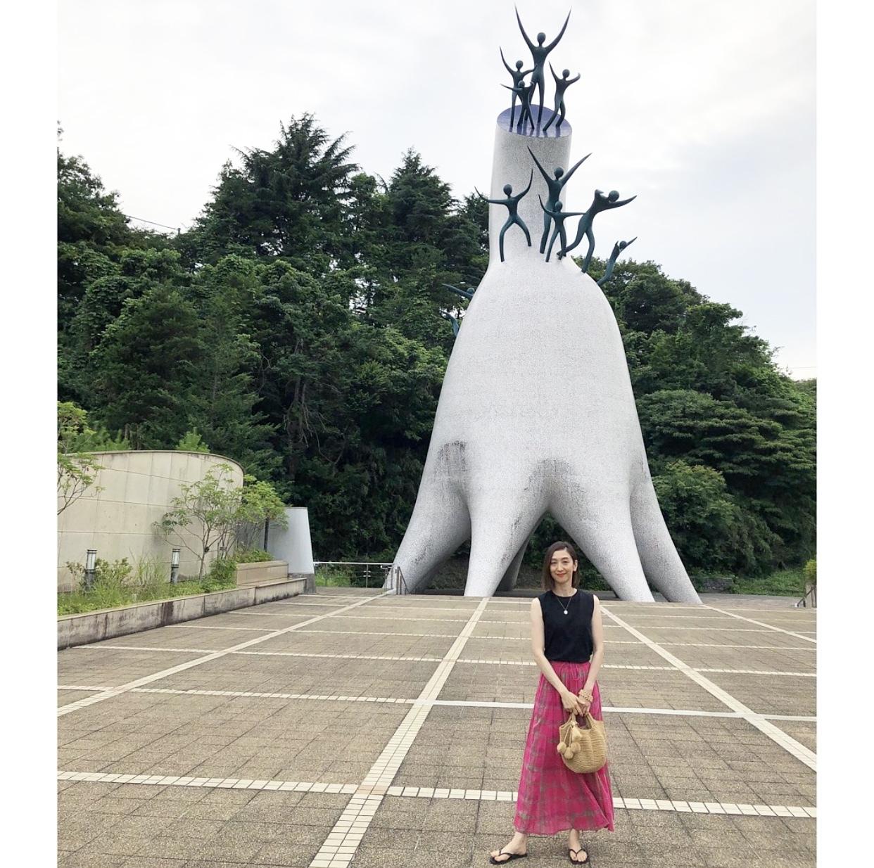 ピンクスカートで、岡本太郎美術館へ❤︎_1_8