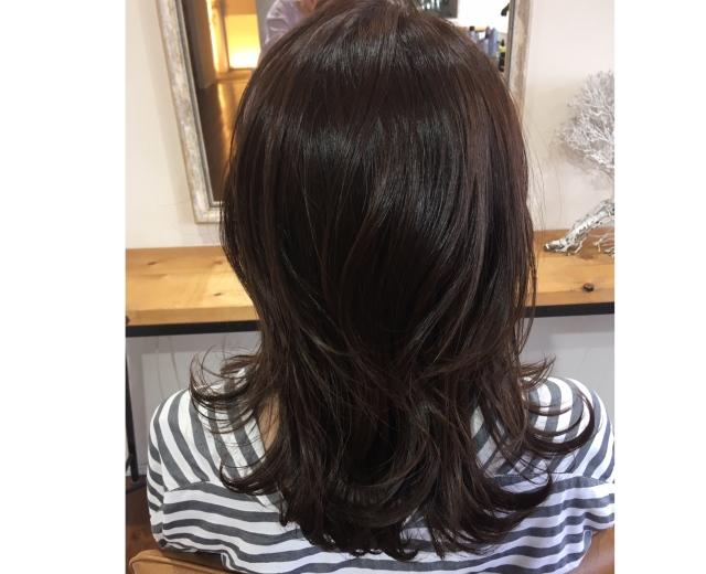 ベージュ艶カラーで春の髪準備。_1_3