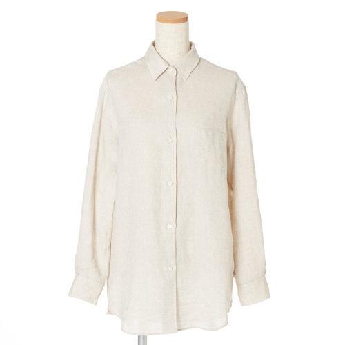 リラクシーな中に女らしさを感じさせて「Deuxième Classe」のリネンシャツ&プリーツパンツ_1_2