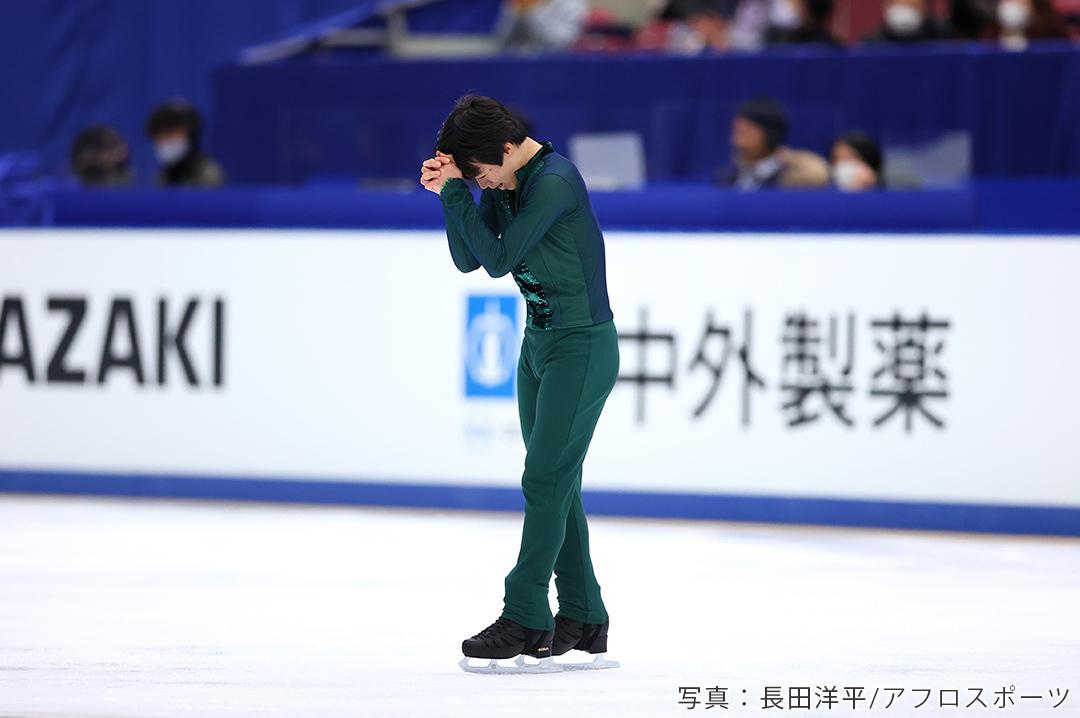 2020年全日本選手権に出場したフィギュアスケートの鍵山優真選手2