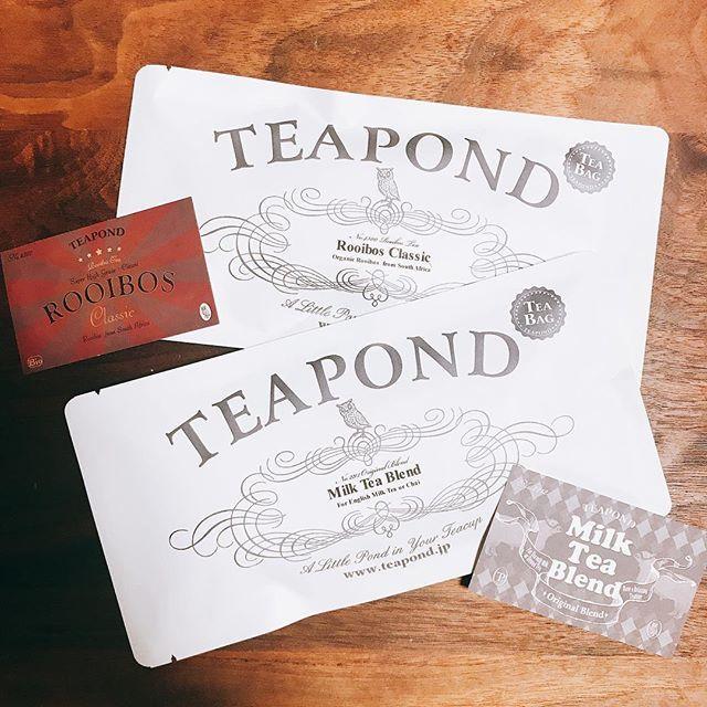 清澄白河にある紅茶専門店「TEAPOND」のティーバッグのパッケージ