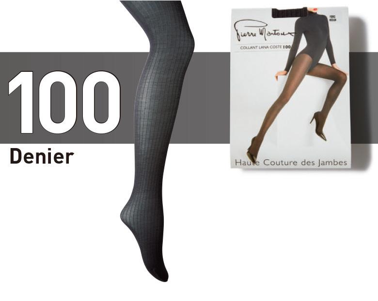 ファッション ステッラの100デニールダークグレータイツ
