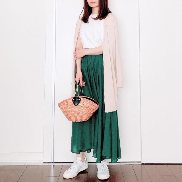 カラースカートでマンネリ打破【tomomiyuの毎日コーデ】_1_1