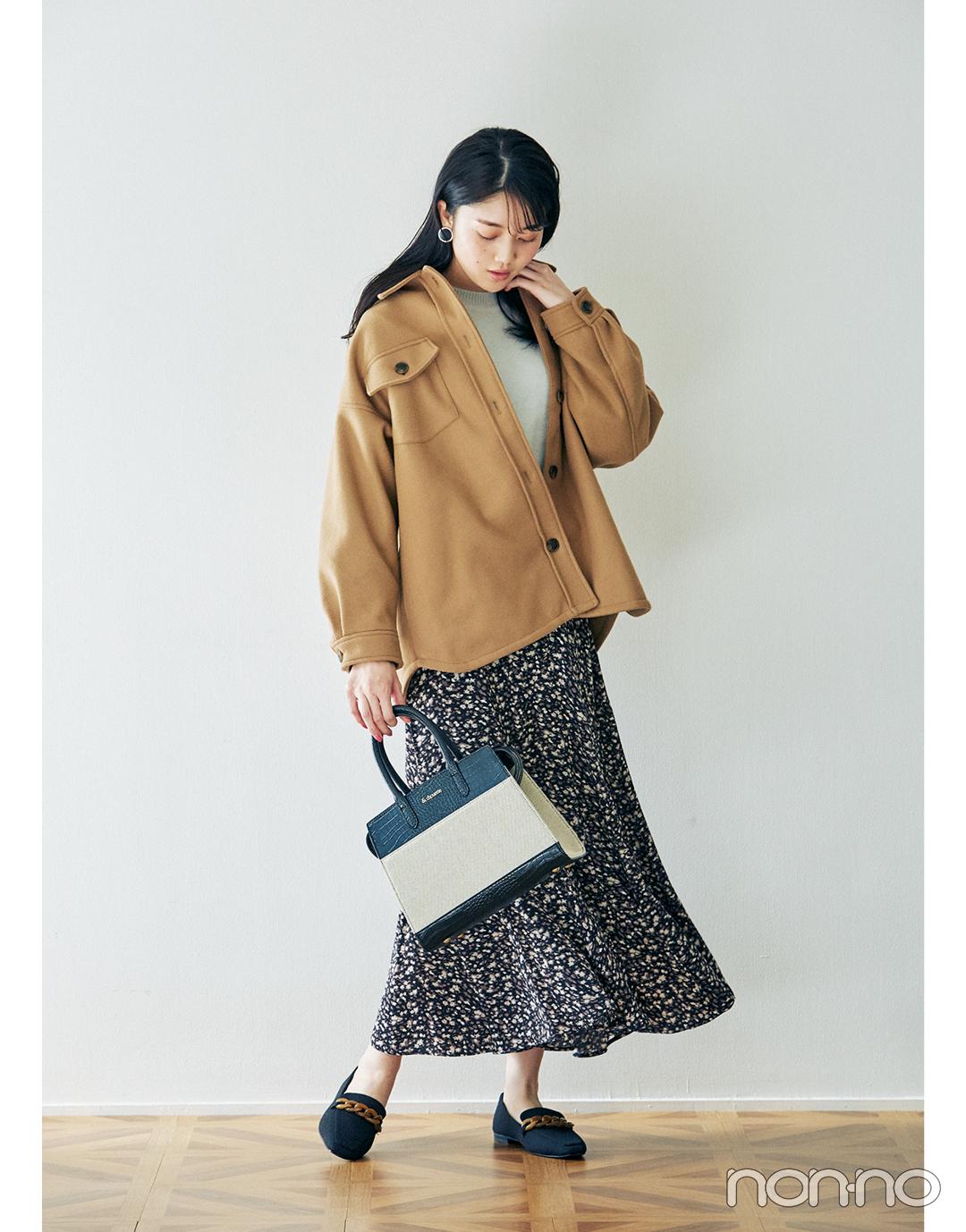 2月~3月の体感寒い日&暖かい日、小花柄スカートはこんなに使える!_1_3