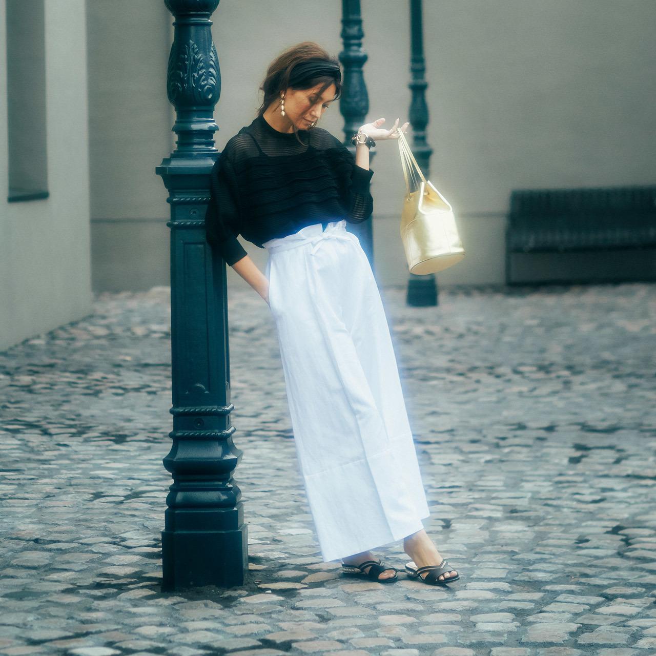 <スタイルの基本となるネオ・トリコロールは黒、白、ゴールド>