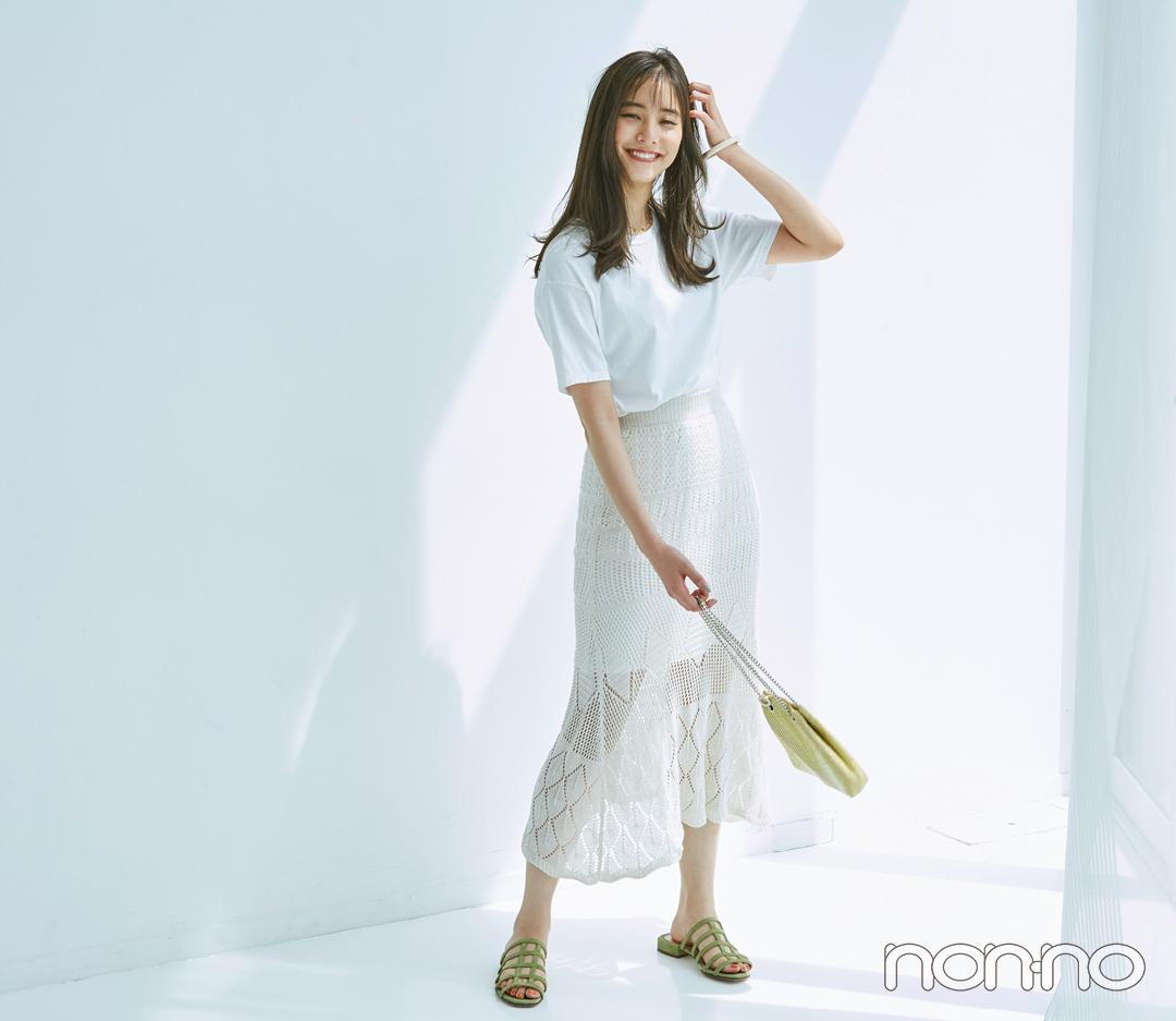 白Tシャツをトレンド顔にコーデ★ 新鮮アイディア4選!_1_4-1
