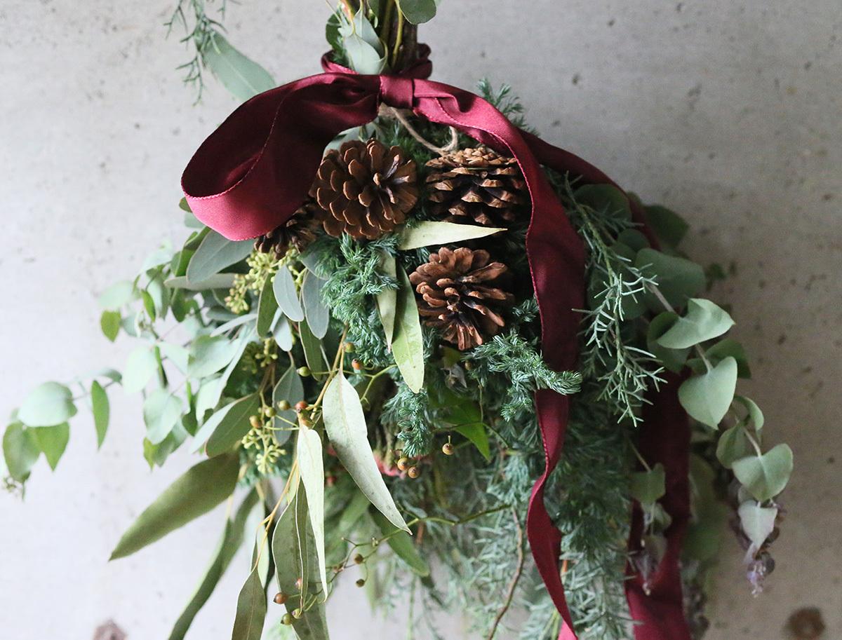 OEUVRE/ウヴルの「クリスマス スワッグ作り」ワークショップ