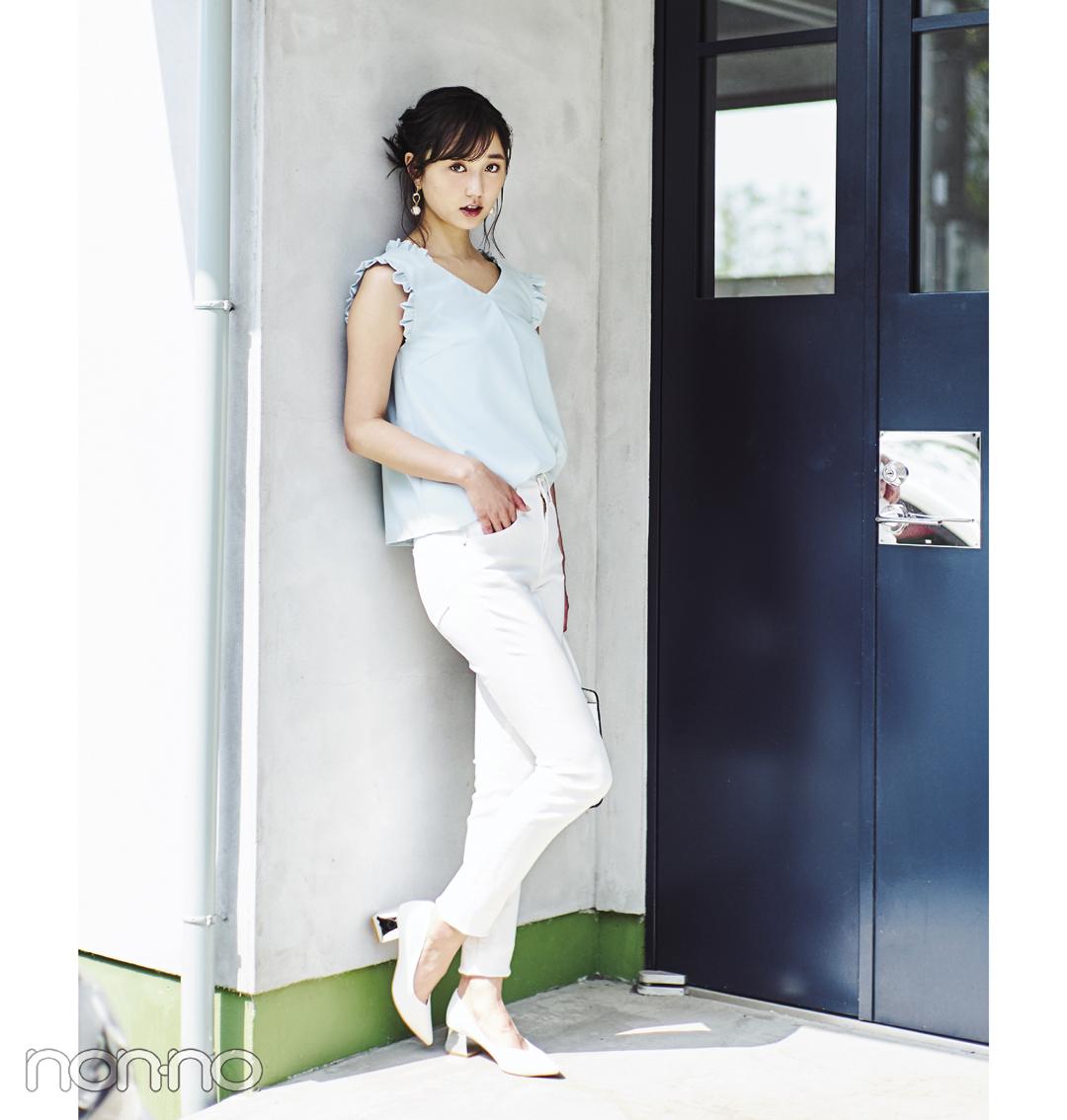 新木優子がお手本♡ この夏のデートコーデは白×パステルで決まり!_1_2-2