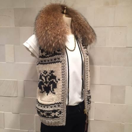 デニムカラーのカウチンで冬の着こなし!_1_2