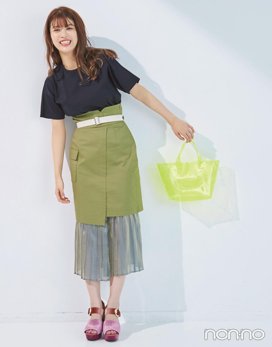 馬場ふみかが着る♡ 黒のシンプルTシャツの新鮮コーデ4選!_1_3-1