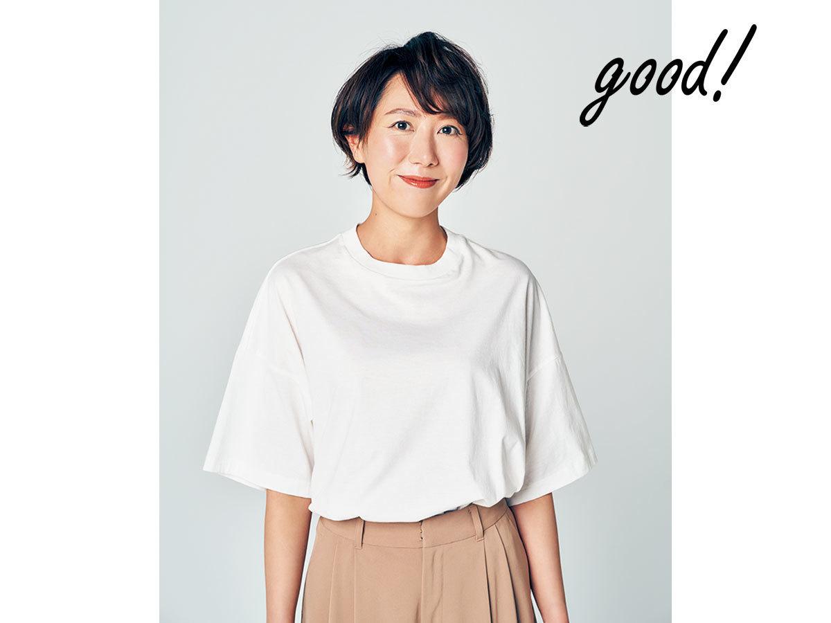華奢に見える白Tシャツ3